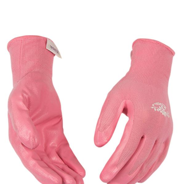 new womens size large pink nitrile coated