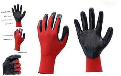 nitrile coated work gloves 12 pairs grip