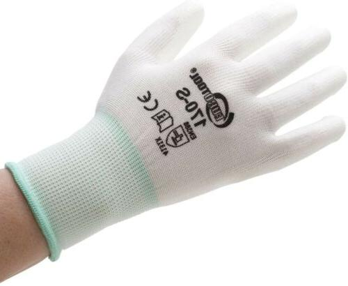 polyurethane palm coated gloves small 12 pair