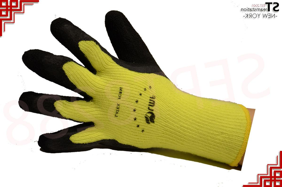 Snow Winter Warm Insulated Rubber Heavy Gloves