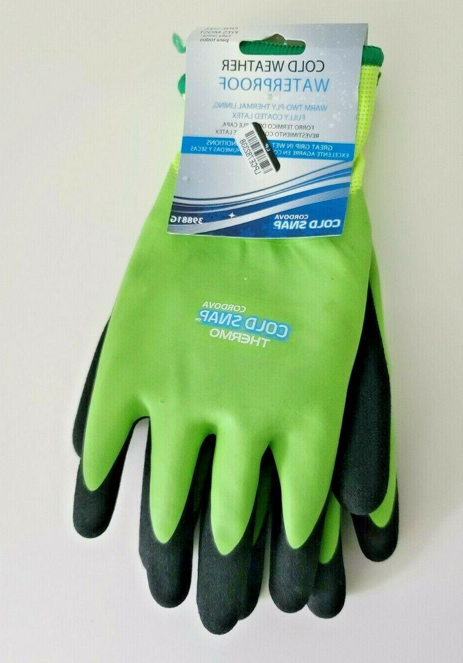 waterproof cold weather green black gloves lot