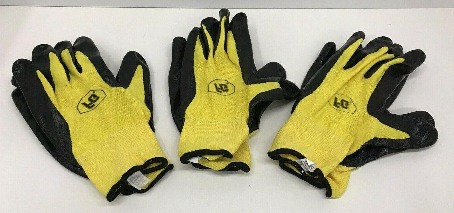 work gloves 3 pair large polyester knit