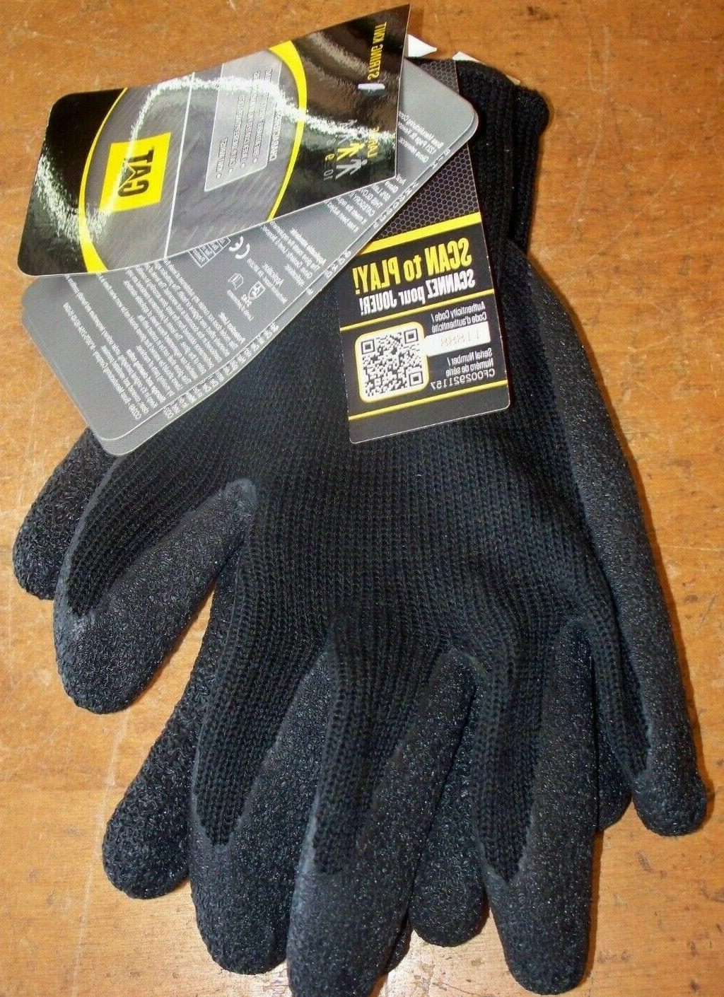 work string knit gloves w latex coated
