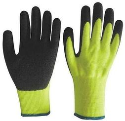 LATEX COATED PALM ATLAS TYPE GLOVES YELLOW WITH BLACK LATEX