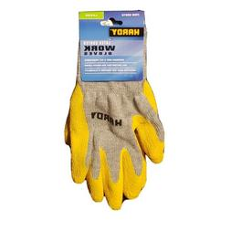 Hardy LATEX COATED Work GLOVES : Size X-LARGE