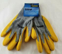 latex coated work gloves x large new
