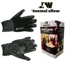 5 Pairs Wells Lamont Men's Nitrile Coated Work Gloves Size l