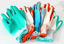 New 5 Pair BBH Gardening Gloves Latex Foam Coating Polyester