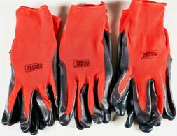 Grease Monkey Nitrile Coated Grip Work Gloves Latex-Free, Lo