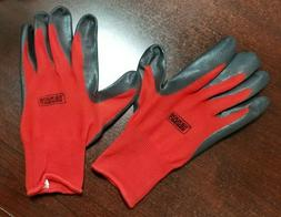 Grease Monkey Nitrile Coated Work Gloves - 12 Pairs - Size L