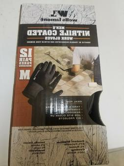 Nitrile coated work gloves  Medium
