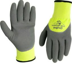 Nitrile Coated Work Gloves with Brushed Acrylic Lining, Gray