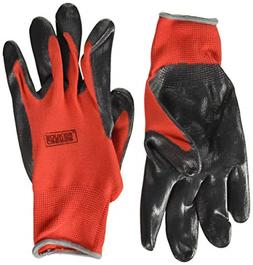 Grease Monkey Nitrile Coated Work Gloves With Grip, Mechanic