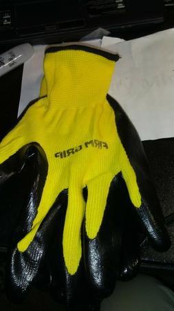 Firm Grip Nitrile Rubber Coated Large Work Gloves 1 PAIR