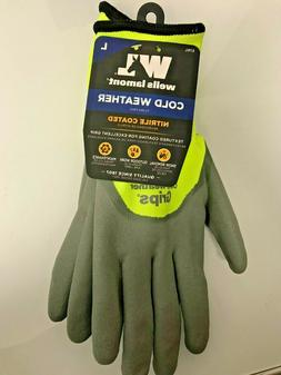 NWT WELLS LAMONT COLD WEATHER GLOVES SIZE LARGE NITRILE COAT
