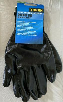 Hardy Polyurethane Coated Nylon Work Gloves Size LARGE