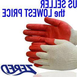 ✔ Premium 300 Pairs of Zered RED Latex Rubber Palm Coated