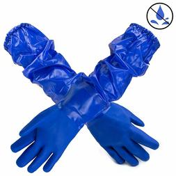 Premium Double Coated 23 inch PVC Chemical Resistant Gloves-
