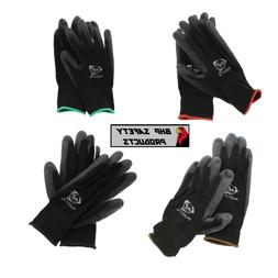 pu polyurethane coated work gloves 12 pair