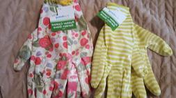Rubber Coated Garden Gloves Choose Flowers or Stripes NEW