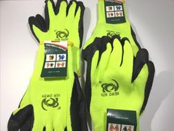 Safety Construction Latex Coated Winter Warm Gloves 4 Pairs