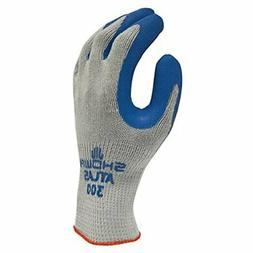 SHOWA 300L-09 Atlas Fit 300 Rubber-Coated Gloves, Large, Gra