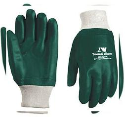 Slip-On PVC Coated Chemical Resistant Gloves, One Size Wrist