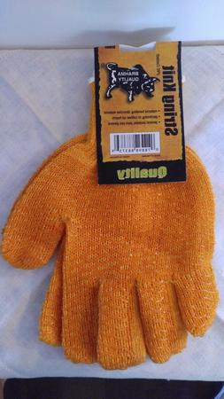 String Knit PVC Coated Work Gloves Brahma Quality Orange Lar