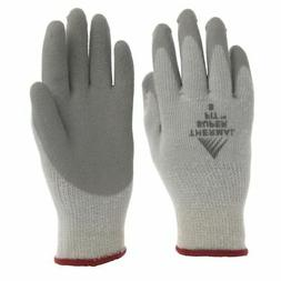Thermal Work Gloves with Natural Rubber Coated Palm Grey Kni