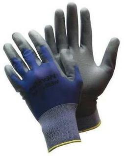 HONEYWELL WE50-L Coated Gloves,L,Gray/Blue,PR