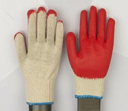 WHOLESALE 300 PAIRS Red Latex Rubber Palm Coated Work Gloves