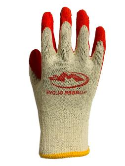 WHOLESALE Red Latex Rubber Palm Coated Work Safety Gloves 30