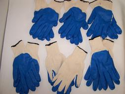WORK GLOVES; INDUSTRIAL COTTON KNIT LATEX DIPPED SIZE X LARG